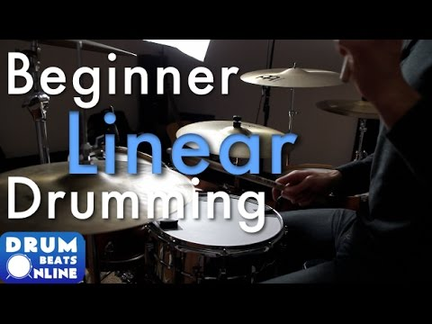 Beginner Linear Drum Beat - Drum Lesson | Drum Beats Online