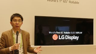 LG Display's 65-inch Rollable OLED TV is DOPE!