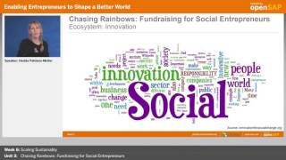 Chasing Rainbows - openSAP MOOC lecture by Hedda Pahlson-Moller