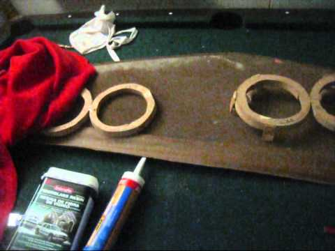 how to make a fiber glass rear speaker deck pt.1