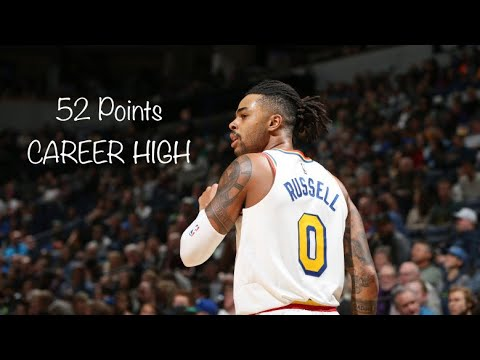 D'ANGELO RUSSELL *CAREER HIGH* 52 POINTS FULL HIGHLIGHTS