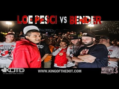 bender - KingOfTheDot - @LoePesci vs @Al_Bender Hosted By :@OrganikHipHop, @Gangiskhancamo, @GullyTK, @lemme_kno & @RexKOTD Download Loe Pesci's new mixtape 