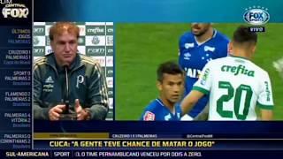 Cuca comenta na entrevista após eliminação na Copa do Brasil - Palmeiras 1 x 1 Cruzeiro 26 07 2017.