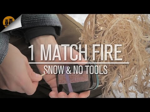 One Match Fire | Snow & No Tools