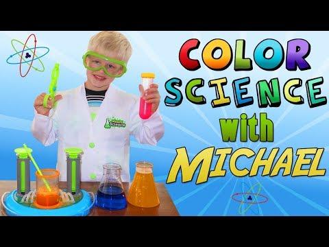 Scientist Michael's Rainbow Fizzy Lab