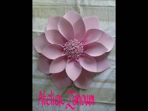 fiore gigante realizzato in foamy