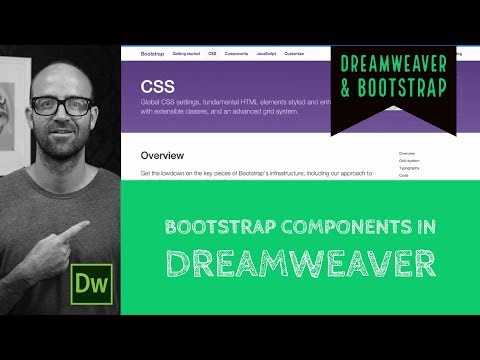 Bootstrap components in Dreamweaver - Bootstrap components Tutorial - Dreamweaver Tutorial [6/54] (видео)