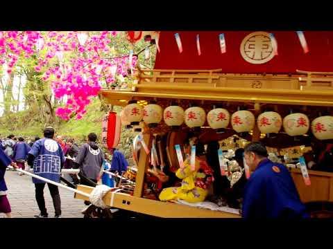 日光二荒山神社 弥生祭 「東西両町家体献備」境内繰込み 長坂