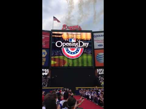 VIDEO: Atlanta Braves Flag Fire