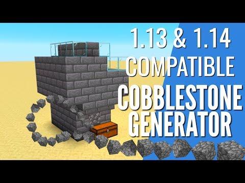 How to Make a CobbleStone Generator in Minecraft 1.14 & 1.13 | Efficient AFK Farm (Avomance 2019)