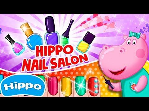 Hippo  Nail Salon  Manicure for girls  Cartoon game for kids 1080х1920