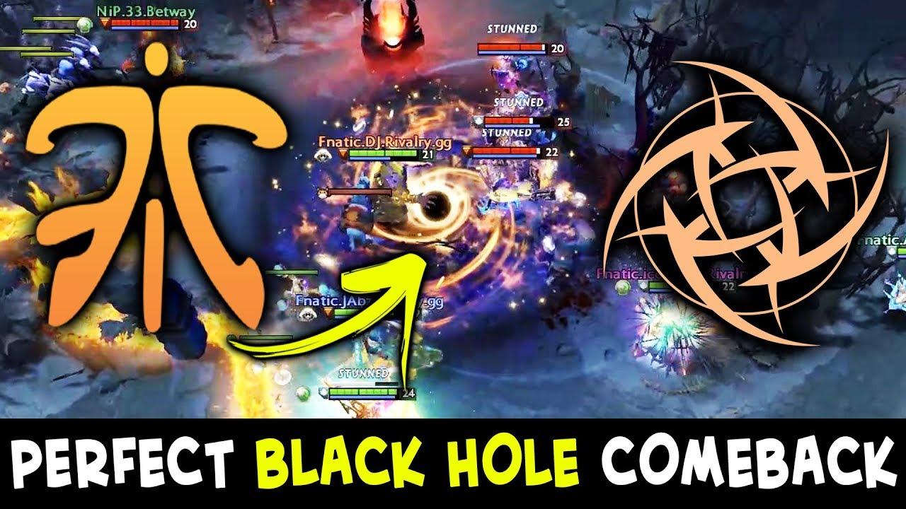 BLACK HOLE COMEBACK vs COMBO Aghs Chaos Knight + PA — Fnatic vs NIP - YouTube
