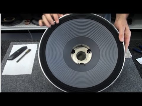 speakers - In this video we show you the easy way to repair a JBL 2226H speaker with our recone kit. We show you how to replace the cone, voice coil, spider, dust cap, ...