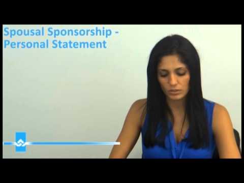 Spousal Sponsorship Personal Statement Video