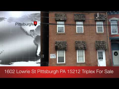 1602 Lowrie St Pittsburgh PA 15212 Pittsburgh Real Estate For Sale