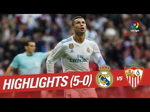 Resumen de Real Madrid vs Sevilla FC (5-0)