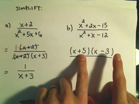 Rational Expressions: Writing in Lowest Terms - Ex 1