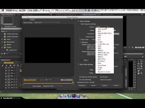 Exporting (in HD) for H.264 (.mp4) in Premiere Pro CC (видео)