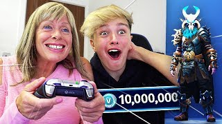 SURPRISING MORGZ WITH *NEW* $1000 FORTNITE SKIN!! (Fortnite Season 5 Ragnarok Skin))