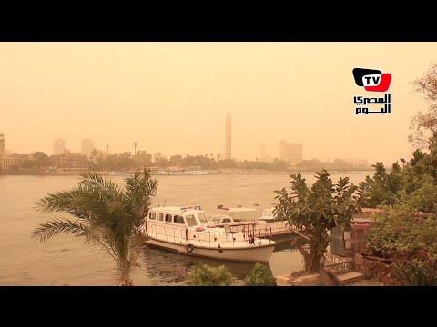 حركة طبيعية في شوارع القاهرة رغم الأتربة والعواصف