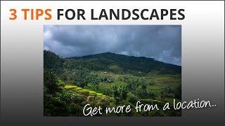 3 Landscape Tips
