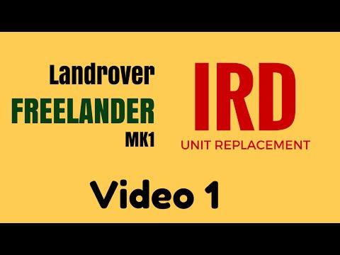 Landrover Freelander Ird Unit Removal Pre 2001 Petrol Vid 1