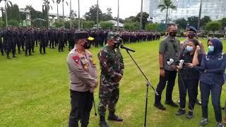 Konpers Polda Metro Jaya dan Kodam Jaya Dalam Rangka Pengamanan Prokes