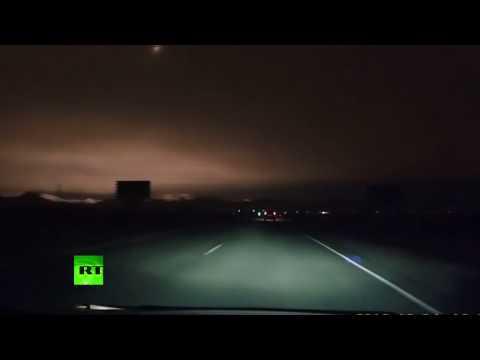 Видео падения метеорита в Хакасии - DomaVideo.Ru