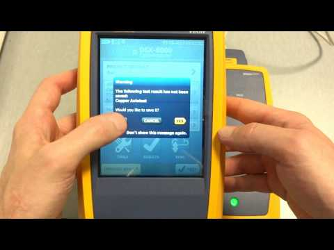 Testing Cables with Fluke Networks Versiv and DSX 8000 Cable Analyser