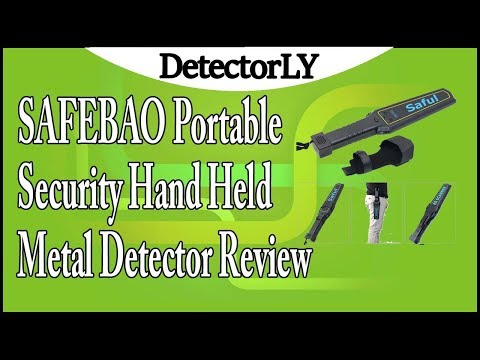 SAFEBAO Portable Security Hand Held Metal Detector Review