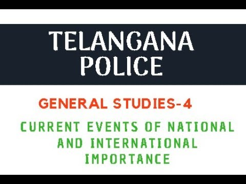 TS SI and Constable Preparation : Current Events of National and International Importance || Hack-4