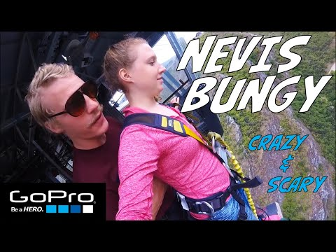 Nevis Bungy Jump GoPro - CRAZY & SCARY