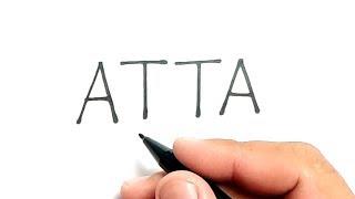 KEREN, cara menggambar kata ATTA jadi ATTA HALILINTAR , youtuber indonesia