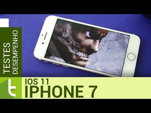 Desempenho do iPhone 7 com iOS 11  Teste de velocidade oficial do TudoCelular