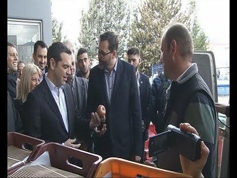Επίσκεψη του πρωθυπουργού στην εταιρεία παραγωγής φρέσκων χυμών μήλου και ροδιού Arcafroz