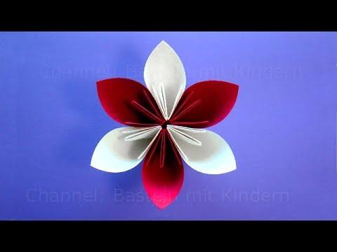 Origami Blume Basteln Mit Kindern Einfache Bastelideen