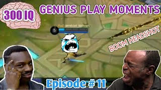 Video 300 IQ Genius Plays Moments Episode # 11 Mobile Legends LUCU |WTF|Funny| OMG| (Smartest Plays) MP3, 3GP, MP4, WEBM, AVI, FLV Mei 2019