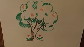 рисуем, дерево, для самых маленьких, draws, tree, , for children