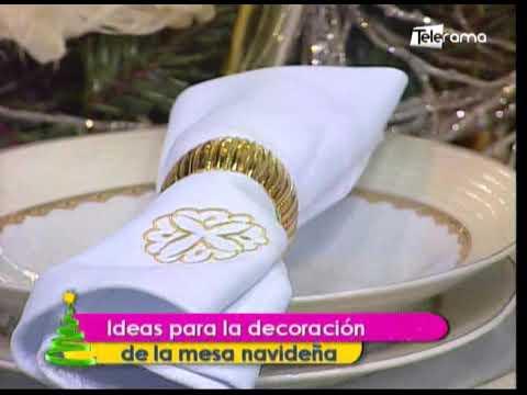 Ideas para la decoración de la mesa navideña