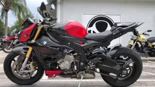 8. Pre-Owned 2017 BMW S 1000 R Racing Red & Carbon Walkaround at Euro Cycles of Tampa Bay Florida