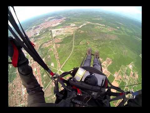 Percurso de uma das etapas do campeonato de voo livre em Quixadá