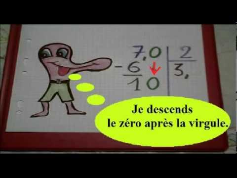 comment poser division 2 chiffres