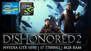 Testing out Dishonored 2 on Asus ROG GL553VD. Specifications: i7 7700HQ Nvidia GTX 1050 4GB, Ram 8GB. Storage upgraded to 256GB Transcend SSD 360s. Recorded with Nvidia ShadowPlay.Here's some results from what I have tested:MEDIUM SETTINGS1600x90029-32fps, on BatteryHIGH SETTINGS1920x108047-54fps, ChargingULTRA SETTINGS1600x90027-34fps, Charging