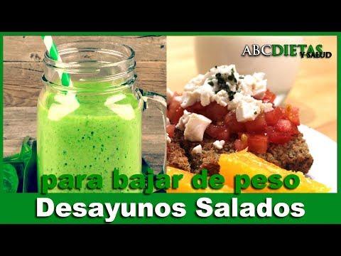 Dietas para adelgazar - BATIDO VERDE Y DESAYUNO SALADO PARA ADELGAZAR