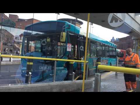 Bus crash at Liverpool Queen Square