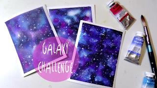 Hola fantasticos! Bienvenidos en un nuevo tutorial de arte en este video vamos a pintar una galaxia con 3 colores sobre 3 tipos de papeles diferentes! MATERIALES USADOS:Papel de Canson VIDALON, MOULIN DU ROY, FIGUERASAcuarelas de LUKAS 1862PINCELES de Daler RowneyGOUACHE BLANCA Boligrafo en gel blanco de Osama UNI BALL SIGNOENLACE a otros videos:TUTORIAL GALAXIA de San Valentin:https://www.youtube.com/watch?v=_CnGEscdj3c&t=5sPAPEL VIDALON:https://www.youtube.com/watch?v=cyzctSt1G5I&t=73s