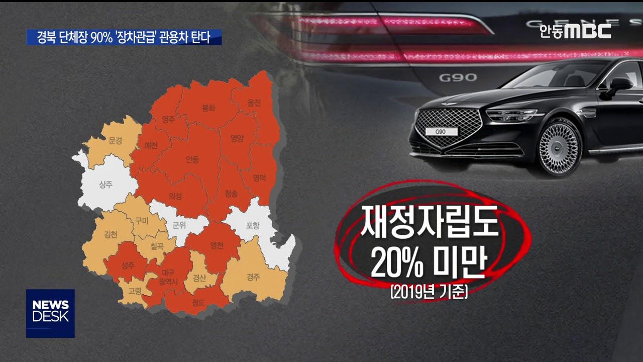 R]경북 단체장 90% '장차관급' 관용차 탄다