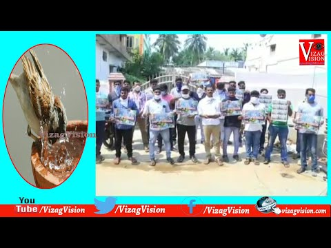 Distribution Water Bowl for Birds in Chippada Village for Birds Drink Water in Summer in Visakhapatnam,Vizagvision...