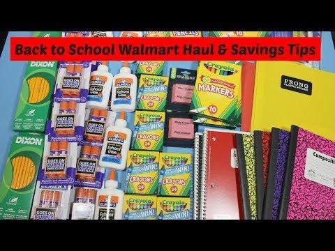 Back to School Walmart Haul & Savings Tips