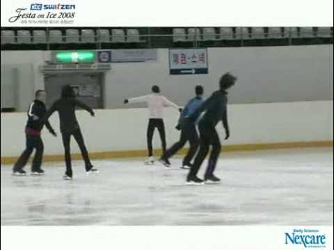 2008 Festa on Ice opening One more Time practice (видео)